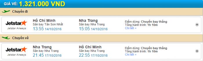 Hồ Chí Minh đi Nha Trang Jestar