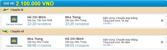 Hồ Chí Minh đi Nha Trang Vietnam Airlines