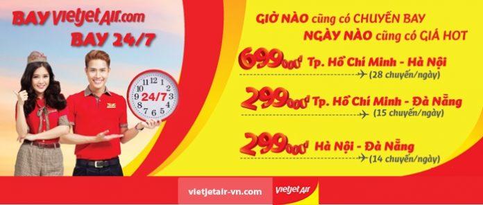 Bay 24/7 cùng Vietjet Air với giá vé cực rẻ