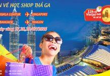 Vietjet Air săn vé hot, shop thả ga chỉ từ 0 ĐỒNG bay quốc tế