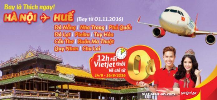 Siêu khuyến mại vé 0 ĐỒNG chặng bay nội địa đi/đến Hà nội