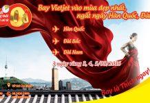 Ưu đãi 3 ngày vàng vé 0 ĐỒNG Vietjet Air đi Đài Loan, Hàn Quốc