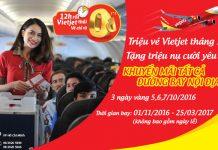 Vietjet mở bán 1,2 triệu vé 0 ĐỒNG đón Tháng 10 rộn ràng