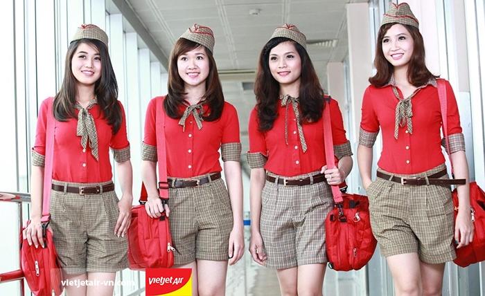 Dàn tiếp viên chuyên nghiệp của Vietjet Air