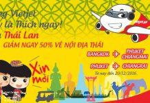 Vietjet Air giảm đến 50% vé nội địa Thái khi mua vé Việt Nam - Thái Lan