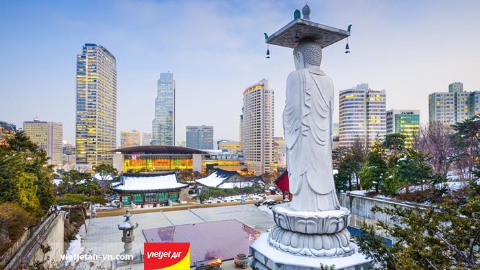Vietjet Air mở thêm đường bay Đà Nẵng - Seoul