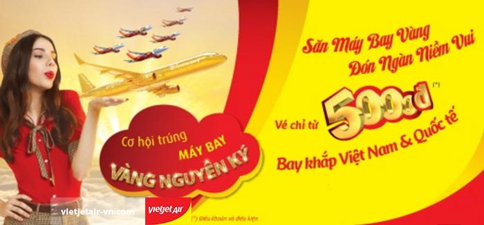 vé Vietjet Air chỉ từ 5000đ bay thả ga năm con gà