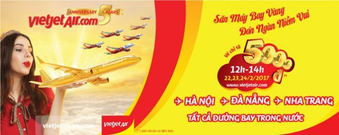 Cùng Vietjet Air đón tháng 3 bay khắp nước ta với 1 triệu vé 5000đ