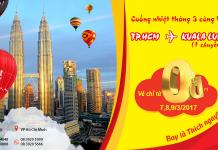 Vui tháng 3 bay thả ga Malaysia cùng vé 0 đồng Vietjet Air