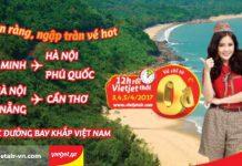 Dễ dàng bay khắp Việt Nam với 1 triệu vé Vietjet Air 0 đồng