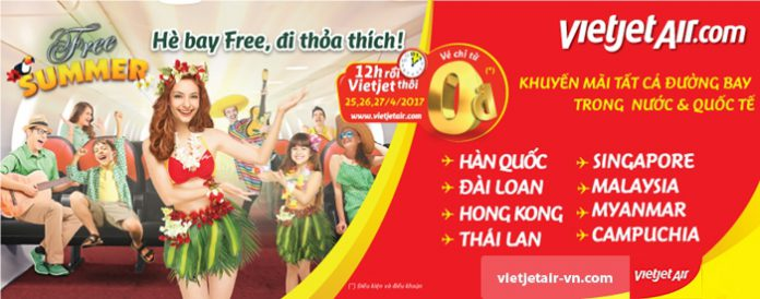 Hè bay free, đi thỏa thích với 1 triệu vé Vietjet Air chỉ từ 0 đồng