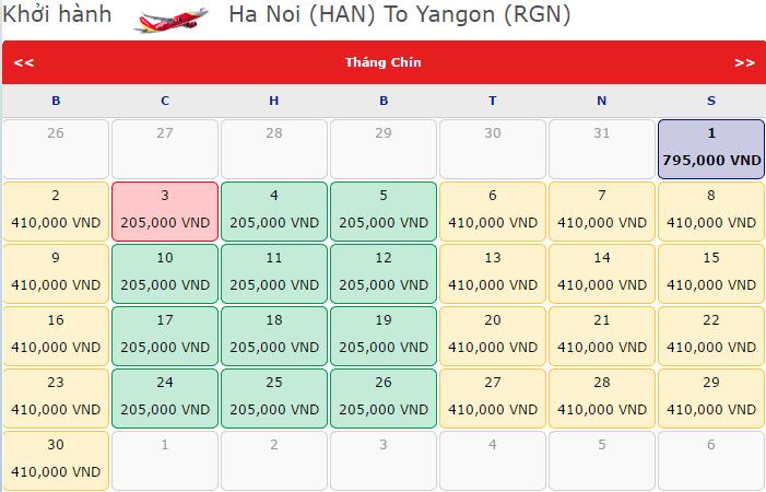 vé máy bay đi Yangon KM chỉ từ 205 000đ