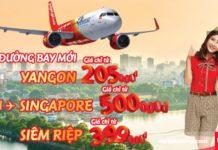 Vietjet Air bán vé rẻ chỉ từ 205 000đ cho đường bay mới Hà Nội - Yangon
