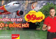 Vietjet Air ưu đãi chào đường bay mới, vé Hà Nội - Đồng Hới chỉ từ 99k