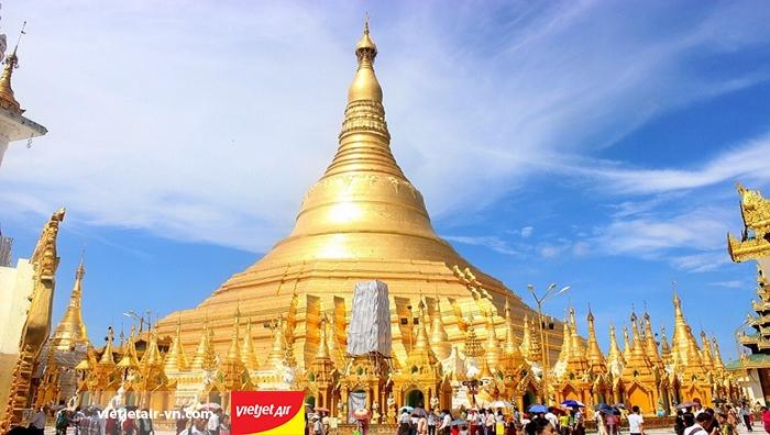 Chùa vàng Shwedagon ở Yangon