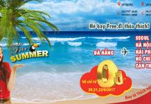 Đốt cháy mùa hè với 300 000 vé Vietjet Air 0 đồng từ Đà Nẵng