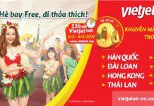 Vui hè trọn vẹn với vé 0 đồng toàn mạng bay Vietjet Air