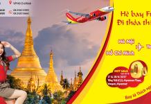 Đón hè Myanmar bay thả ga với 1000 vé Vietjet chỉ từ 0 đồng