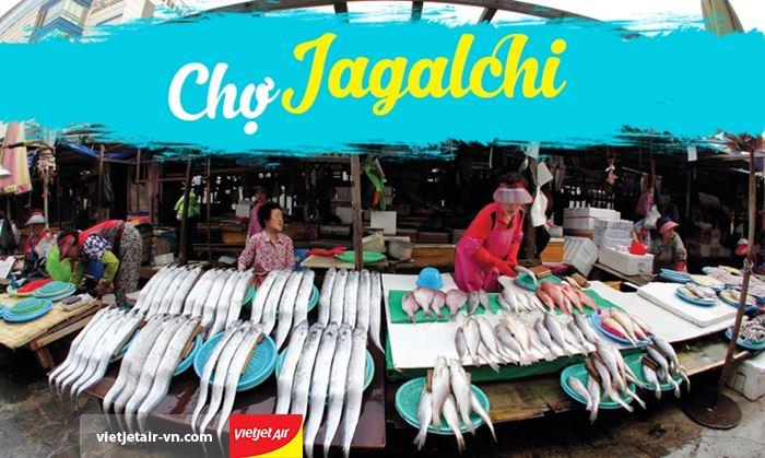 Chợ cá Jagalchi Busan Hàn Quốc