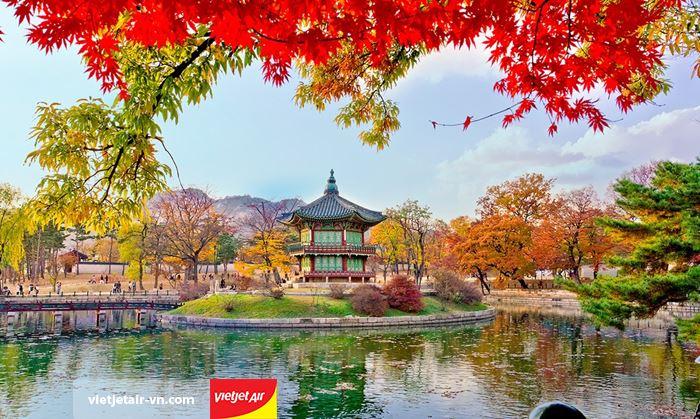 Cung điện Seoul mùa thu
