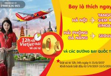 Rộn ràng bay quốc tế với 200 000 vé 0 đồng cùng Vietjet Air