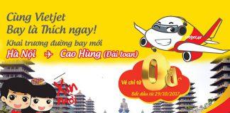 Khám phá Cao Hùng cùng vé 0 đồng Vietjet Air khai trương đường bay mới