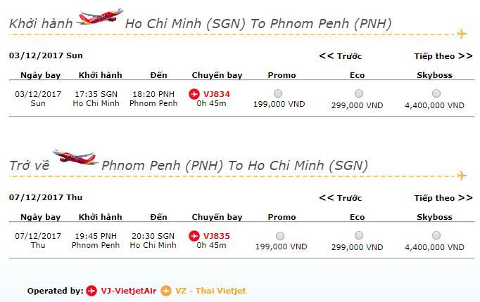 Vé máy bay TP HCM - Phnom Penh