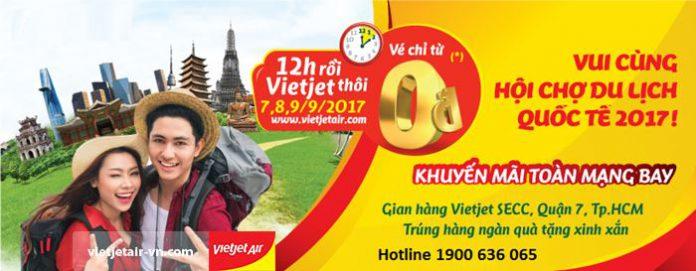 Siêu sốc Vietjet Air tặng 700 000 vé 0 đồng bay khắp Việt Nam và Quốc tế