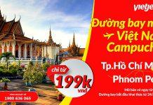 Vietjet Air mở đường bay mới TP HCM - Phnom Penh 199 000đ cực hot