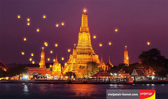 Chùa Wat Arun có thiết kế độc đáo