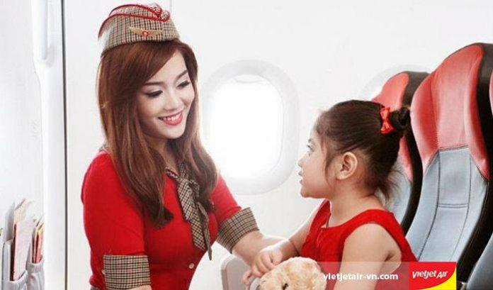 Quy định trẻ em và trẻ sơ sinh đi máy bay Vietjet Air