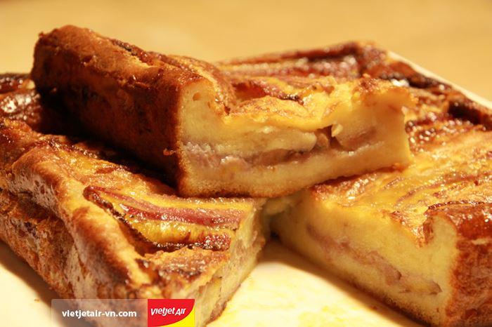 Bánh chuối nướng với nguyên liệu đơn giản