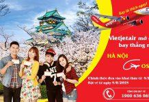 Vietjet Air công bố mở đường bay mới đến Osaka Nhật Bản
