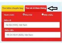 Tìm vé máy bay giá rẻ Vietjet Air
