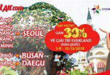 Giảm 30% vé vào cổng Everland Hàn Quốc
