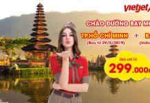 Vietjet Air mở bán vé đường bay Hồ Chí Minh đi Bali