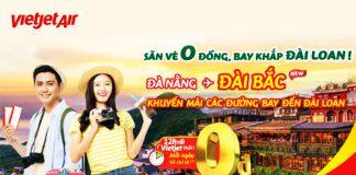 Khuyến mãi 150.000 vé 0 đồng mừng đường bay mới Đà Nẵng – Đài Bắc