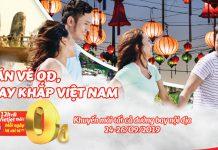 Săn vé 0 đồng khuyến mãi Vietjet Air khám phá Việt Nam